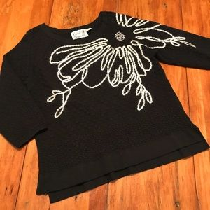 Field & Flower Anthro Embroidered Sweater